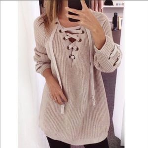 Sweaters - ❤️GORGEOUS LACE UP SWEATER❤️